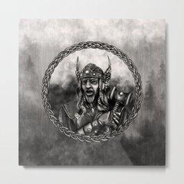 Thor - Norse God of thunder Metal Print