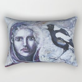 Sacred Messengers Whispering Rectangular Pillow