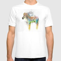 Drippy Jazzy Zebra by Jai Johnson Mens Fitted Tee White MEDIUM