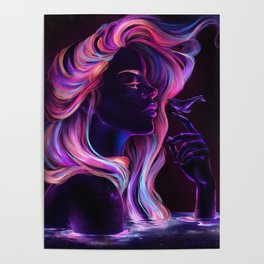 Blacklight Babe Poster