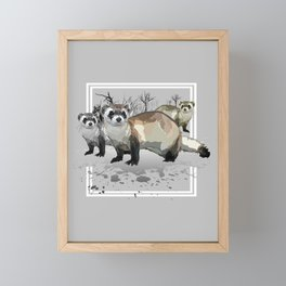 Ferrets Framed Mini Art Print