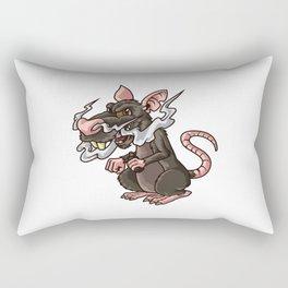 Vaping Rat Illustration | Rattus Vape Vermin Rectangular Pillow