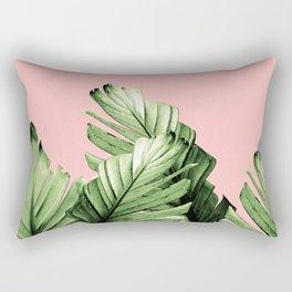 Blush Banana Leaves Dream #10 #tropical #decor #art #society6 Rectangular Pillow