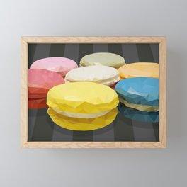 geometric macaroon sweet Framed Mini Art Print