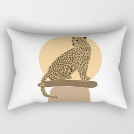 Leopard on the rocks Rectangular Pillow