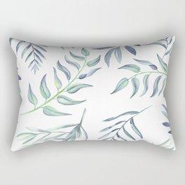 Floating Leaves Blue #society6 #buyart Rectangular Pillow