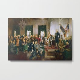 The Signing of the Constitution of the United States - Howard Chandler Christy Metal Print