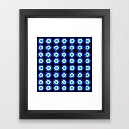 Evil Eye Amulet Talisman - on black Framed Art Print