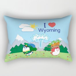 Ernest and Coraline | I love Wyoming Rectangular Pillow