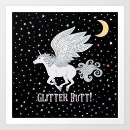 Glitter Butt! Art Print