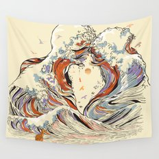 The Wave of Love Wall Tapestry