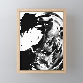 Drilling for that black gold in our oceans, black wave Framed Mini Art Print