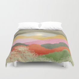 Colorful mountains Duvet Cover