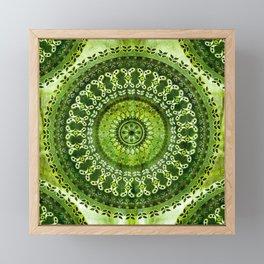 Vintage Lime Mandala Framed Mini Art Print