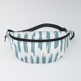 Vertical Dash Teal on White Fanny Pack