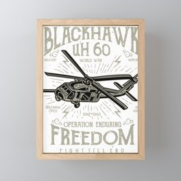 Blackhawk UH 60 Framed Mini Art Print