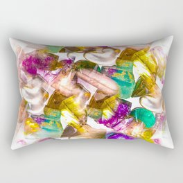 Crystal Cluster Rectangular Pillow