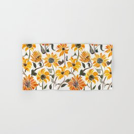 Sunflower Watercolor – Yellow & Black Palette Hand & Bath Towel