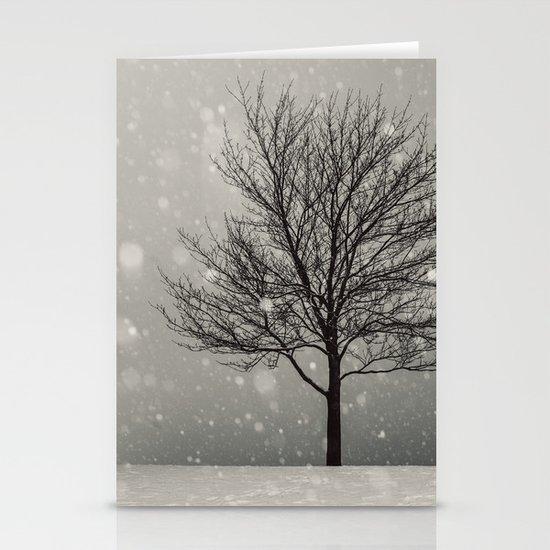 January Snow Stationery Cards