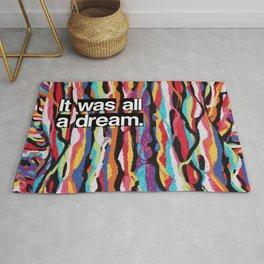 """It Was All A Dream"" Biggie Smalls Inspired Hip Hop Design Rug"