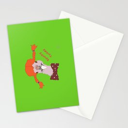 Spunky Turkey Orange Hair GB TX Stationery Cards