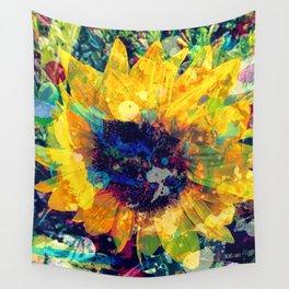 Sunflower Batik Wall Tapestry