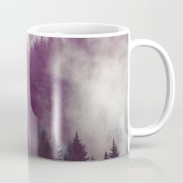 Clear life's mist to see beauty. Purple Coffee Mug