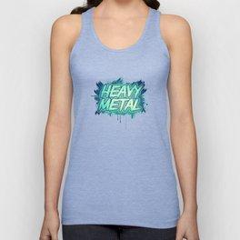 HEAVY METAL! ( Green Splatter Typo Design ) Unisex Tank Top
