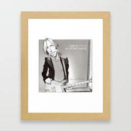 Tom Petty Caricature Framed Art Print