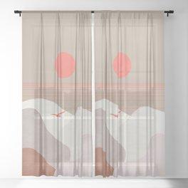 Minimal Sunset 11 Sheer Curtain