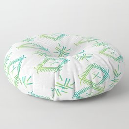UrbanNesian Green & Turquoise Malu Floor Pillow