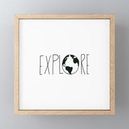 Explore the Globe x BW Framed Mini Art Print