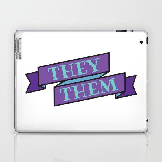 they/them pronouns Laptop & iPad Skin