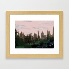 Ruined Framed Art Print