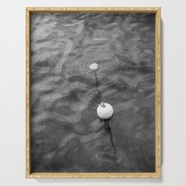 Floating little buoys | Saint Ives Cornwall UK | Minimal fine art travel photography | Serving Tray