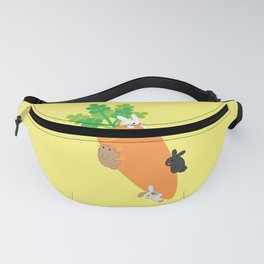 Giant Carrot and Bunnies Fanny Pack