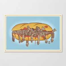 Human Sandwich Canvas Print