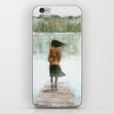 Girl on the pier iPhone & iPod Skin