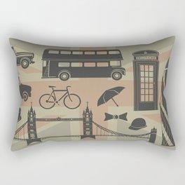 vector set of London landmarks Britain symbols isolated Rectangular Pillow