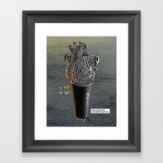 CRZN Dynamic Microphone Framed Art Print