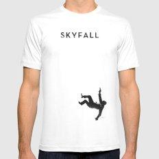 Skyfall White MEDIUM Mens Fitted Tee