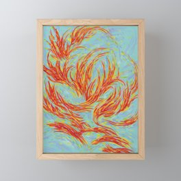 Fires of Life Dancing Flames Framed Mini Art Print
