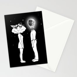 Day Dreamer Meets Night Thinker Stationery Cards