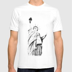 Lady L. MEDIUM White Mens Fitted Tee