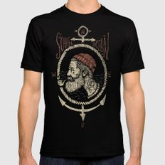 South Ocean LARGE Black Mens Fitted Tee