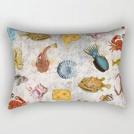 Sea World Vintage Pattern Rectangular Pillow
