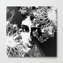 The Flower Girl - Abstract Female Art Metal Print