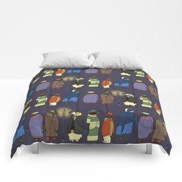 Victorian Penguins Comforters
