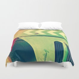 Road Roller Chevron 02 - Industrial Abstract (everyday 18.01.2017) Duvet Cover