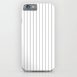 White Black Pinstripes Minimalist iPhone Case
